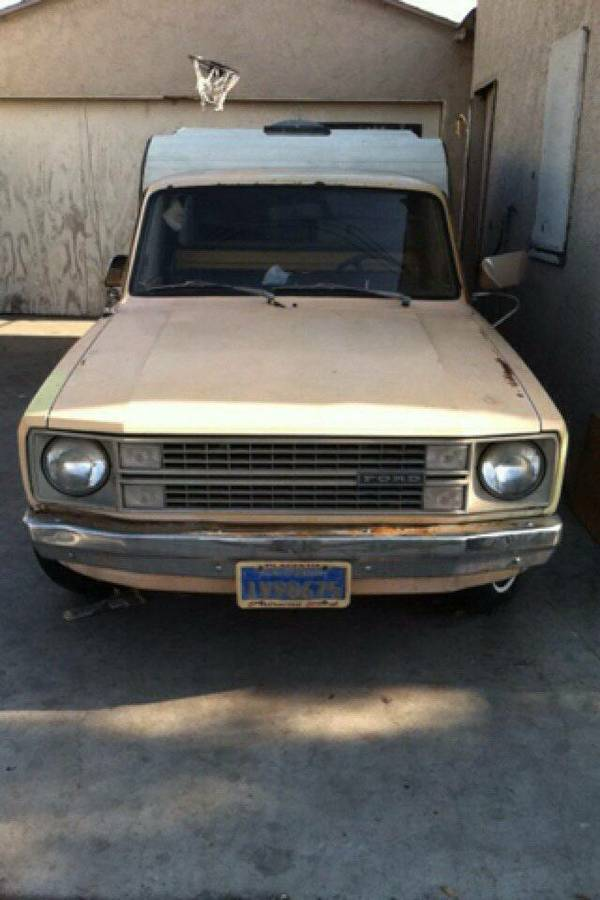 Slo Craigslist: 1980 Ford Courier Pickup W/ Camper For Sale In Bell, CA
